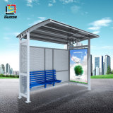 Aluminium Bus Shelter Outdoor Bus Stop Advertisement Light Box