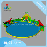 Joy Inflatable Newest Outdoor Trampoline Water Park with Swimming Pool for Kids