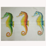 Wrought Iron Hippocampus Wall Hanging