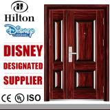 Cheap Honeycomb Paper Core Steel Double Leaf Security Door