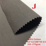 16*12/108*56 265-275GSM Competitive Price of Twill Style Cotton Cloth Fabric Used for Work Clothing
