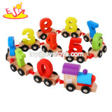 Wholesale Educational Wooden Number Train Toy for Children W04A427