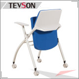 School Library Lab Office Wheels Fabric Folding Traning Chair (DHS-GE01C)