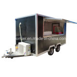 China Towing Type Mobile Pizza Food Cart for Sale