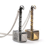 "Thor "" Loki's Hammer "" Alloy ID Necklace Keychain Jewelry Metal Thor Hammer Pendant Movie Key Chain Jewelry"