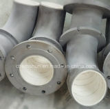 Abrasive Ceramic Lined Inlet Tube Pipe with Flange