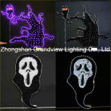 LED Halloween Lights, Night Owl in The Tree and Ghost 2D Design