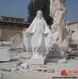 Natural White Marble Jesus Figure Granite Sculpture