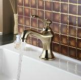 Teapot Golden Finish Bathroom Basin Faucet (Q201313G)