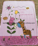100% Polyester 2 Layers Printed Baby Mink Blanket