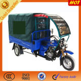 China Motorzied Cargo Three Wheel Motorbike with Cabin