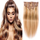 10A Grade European Straight Human Remy Hair Clip in Extensions