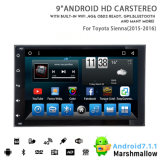 Vshauto Eight-Core Android 8.1 Car DVD Audio for Toyota Sienna 2015 2018