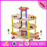 2016 Wholesale Wooden Toy Garage for Toddlers, Hot Sale Wooden Toy Garage for Toddlers, Best Toy Garage for Toddlers W04b045