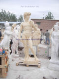 David Marble Sculpture Yellow Marble Sculpture Marble Statue