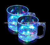 LED Flashing Beer Mug/Straight Cup with Handle