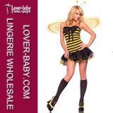 Sexy Bumble Bee Dress for Halloween Adult Cheap Costume (L15278)