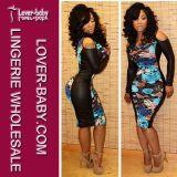 Woman PU Sheath Mini Clubwear Sexy Dress (L27682)