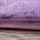 Foiled Hot Stamping Polyester Faux PU Leather Shoe Bag Fabric