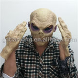 Alien Mask with Gloves, Latex Halloween Mask
