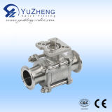 Sanitary 3PC Clamp/Weld End Ball Valve with CE ISO