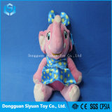 Smiling Pink Elephant Soft Plush Stuffed Toy with Skirt