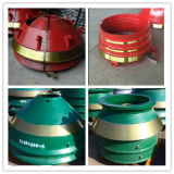 Mn13% Mn18% Mantle Concave Bowl Liner Cone Crusher Wear Parts for Metso HP300