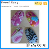 Hot Selling OEM Mini Water Transfer Print Wired Mouse
