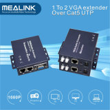 1 to 2 VGA Extender 300m (by single Cat5e/6)