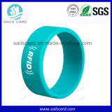 13.56MHz S50 RFID Silicone Wristband with Personalized Logo