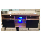 New Model Glass TV Stand Wooden Furniture TV Showcase
