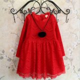 Kd1121 Boutique Quality Lace Princesss Dress with Fleece for Kids Girls