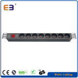 "19"" 8 Way French Mains Power Distribution Strip Unit Extension PDU Data Rack Cabinet"