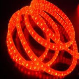 Holiday Decoration Waterproof 3 Wire Flat LED Rope Light-Red