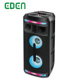Wireless Professional Portable Rechargeable DJ Karaoke Sound Box Trolley Bluetooth PA Speaker with LED Light ED-606