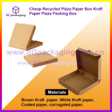 Cheap Recycled Pizza Paper Box Kraft Paper Pizza Packing Box