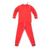 Sheep Run Merino Wool Children's Red Thermal Underwear for Winter