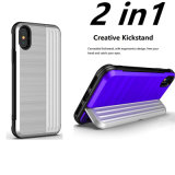 2 in 1 Shockproof Hybrid Armor Holder Phone Case Cover for iPhone