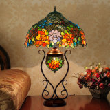 """12"""" or 16"""", 18"""" Ce Approved Stained Glass Tiffany Table Lamp for Bedroom with Wholesale Price"""