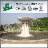 Musical Water Fountain with Marble Statue for Garden