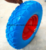 4.00-8 500 Lbs Wheelbarrow Flat Free PU Foam Solid Rubber Tire