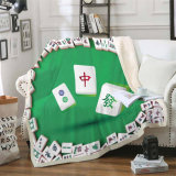 Mahjong Tabletop 3D Printing Bedding Set Blanket Textile