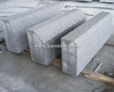 Flamed Light Grey Granite Kerbstone for Road