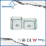 Double Bowl Stainless Steel Moduled Kitchen Sink (ACS8445M)