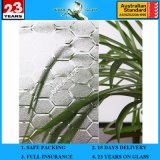 3-8mm Clear Karatachi Patterned Glass with AS/NZS 2208