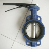 Handle Operate Wafer Butterfly Valve with EPDM Sealing