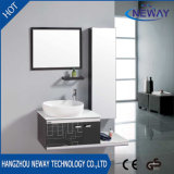 Classic Steel Ceramic Basin Bathroom Washbasin Cabinet