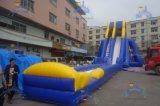 China Cheap Hot Wholesale Theme Park Inflatable Giant Slide Big Water Slip N Slide with Pool Water Slide for Chilld