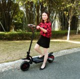 Powerful Green Electric Scooter with 350W Brushless Motor Scooter for Adult