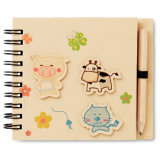 Children′s Notepad with 70 Pages and a Pencil with Customized Logo